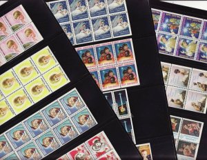 1959-69 Holy Childhood Catholic Christmas Charity Seals Booklet Pane Collection