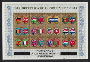 Honduras Centenary of UPU Sheetlet MS SG#MS867 SC#C574
