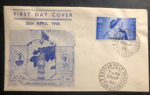 1948 Tanger British Morocco first day cover King George 6 Royal Silver Wedding