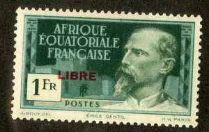 FRENCH EQUATORIAL AFRICA 108 MH SCV $20.00 BIN $9.00 PERSON