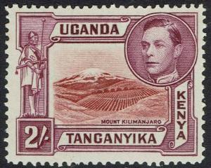KENYA UGANDA & TANGANYIKA 1938 KGVI MOUNT KILIMANJARO 2/- MNH ** PERF 14