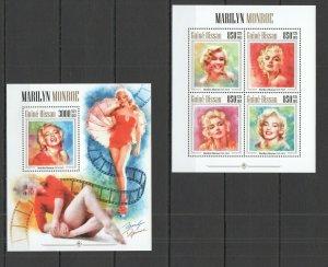 ST1197 2013 Guinea Bissau Berühmte Leute Marilyn Monroe KB + Bl MNH Briefmarken