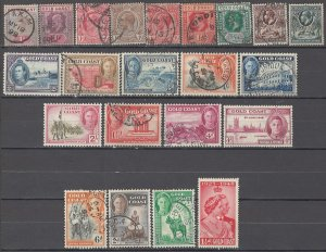 COLLECTION LOT OF # 1686 GOLD COAST 22 STAMPS 1898+ CV+$30