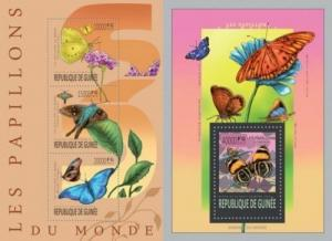Guinea 2013 butterflies insects flowers klb+s/s MNH
