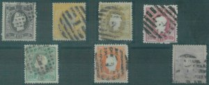 88271 -  PORTUGAL - early STAMPS - Unificato 26/34 . Very fine USED --- PERFECT!