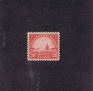 SCOTT# 567 UNUSED OG NH 20 CENT GOLDEN GATE, 1923, PSE CERT. GREAT STAMP