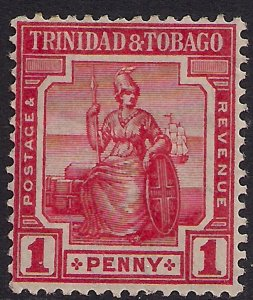Trinidad & Tobago 1913 - 23 KGV 1d Carmine Red MM  SG 150c ( L1230 )