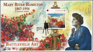 CA20-028, 2020,Mary Ritter Hamilton, Pictorial Postmark, First Day Cover, Battle