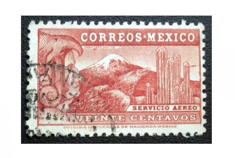AIR MAIL STAMP FROM MEXICO. SCOTT # C68. YEAR 1934. USED