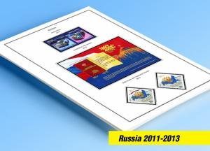 COLOR PRINTED RUSSIA 2011-2013 STAMP ALBUM PAGES (64 illustrated pages)