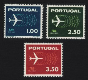 Portugal 10th Anniversary of TAP Airline 3v SG#1237-1239