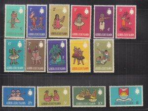 GILBERT & ELLICE ISLANDS, 1965 definitive set of 15, mnh.