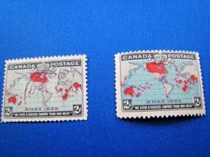 CANADA  SCOTT# 85-86 -  MH/USED