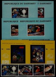 Dahomey MNH lot UPU/Space 4v+6s/s