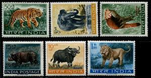 HERRICKSTAMP INDIA Sc.# 361A-66 Animals, Elephant, Lion Stamps