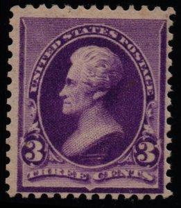 US Scott #221 - F/VF -MNH - 3c Jefferson - Purple - 1890