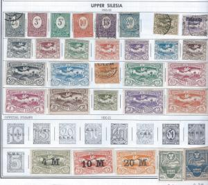 UPPER SILESIA1920-1922 SCV $62.00 AT A LOW PRICE