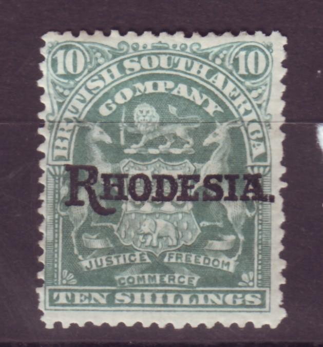 J17077 JLstamps 1909 rhodesia mh #98 ovpt small hinge thin $70.00 scv