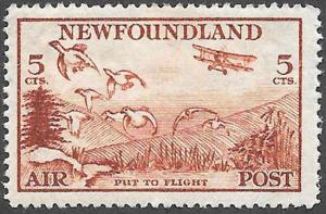 Newfoundland Airmail Stamp Scott Number C13 FVF H