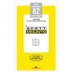Scott Prinz 82 mm High 240mm Long Self Cutting Stamp Mounts  Clear 10 Strips