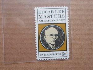 6 CENT STAMP EDGAR LEE MASTERS AMERICAN POET SC. # 1405