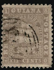 British Guiana 1860 SC21 SG37 Used F-VF £48/$55...Tough to Find!