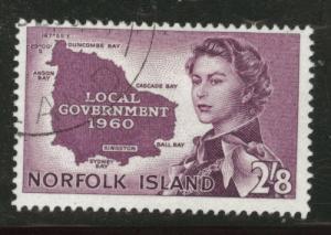 Norfolk Island Scott 42 used 1960 stamp $16