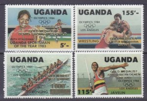 1985 Uganda 440-443 Overprint # 397-400 5,00 €