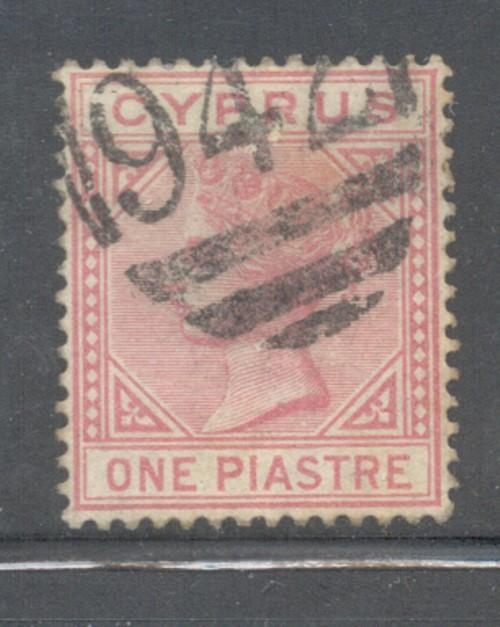 Cyprus Sc 21 1882 1 pi rose Victoria stamp used