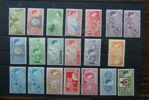 Bermuda 1953 - 1962 set to £1 MM SG135 - SG150