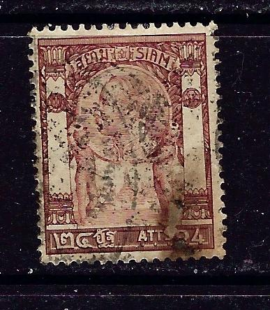 Thailand 104 Used 1905 issue stain on bottom right shows on back
