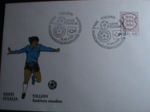 ESTONIA-FDC COVER-1993 WORLD CUP SOCCER-ITALY MNH COVER -VERY FINE
