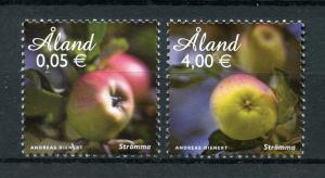 Aland 2011 MNH Apples Stromma Apple 2v Set Nature Fruit Fruits Stamps