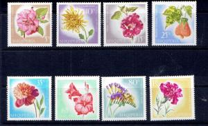 ALBANIA - 1967 FLOWERS - SCOTT 1017 TO 1024 - MNH