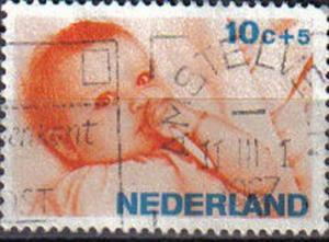 NETHERLANDS, 1966 used 10c. Child Welfare.