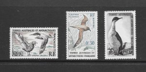 BIRDS - FRENCH SOUTHERN ANTARCTIC TERRITORY #12-14  MNH