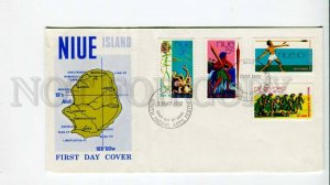 293829 NIUE 1972 year map south pacific arts festival First Day COVER