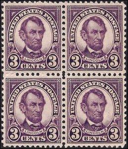635 Mint,OG,NH... Block of 4... SCV $4.80... XF