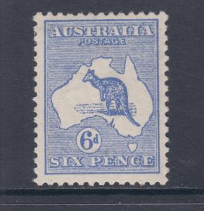 Australia Sc 8 MLH. 1913 6p ultra Kangaroo almost VF