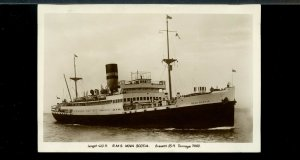 R.M.S. NOVA SCOTIA ship REAL PHOTO unused post card Canada