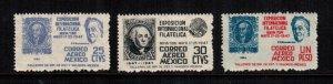 Mexico  C167-C169   MNH   cat $ 3.00 111