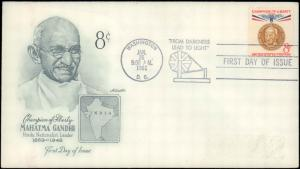 United States, District of Columbia, First Day Cover, India