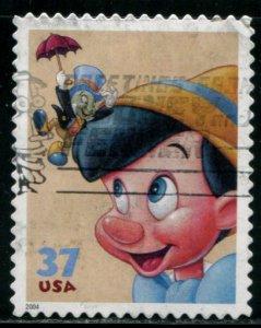 3868 US 37c Disney Friendship SA, used