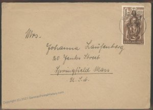 Germany French Zone Cover Springfield Mass  Remagen 104196