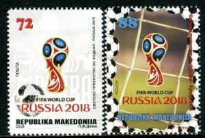 285 - MACEDONIA 2018 - Football - FIFA World Cup - Russia - MNH Set