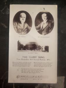 1905 North Hampton England Postcard cover The Glory Song CM Alexander Hymns
