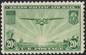 SC#C21 25¢ China Clipper (1935) MH