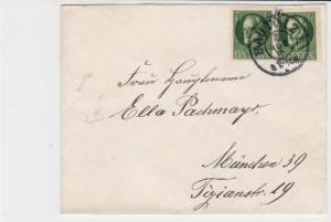 bavaria 1916 stamps cover ref 20592