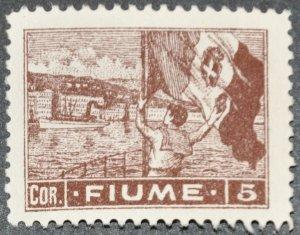 DYNAMITE Stamps: Fiume Scott #42 – UNUSED