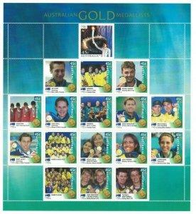 AD326) Australia 2000 Australian Olympic Gold Medallists Sheetlet MUH